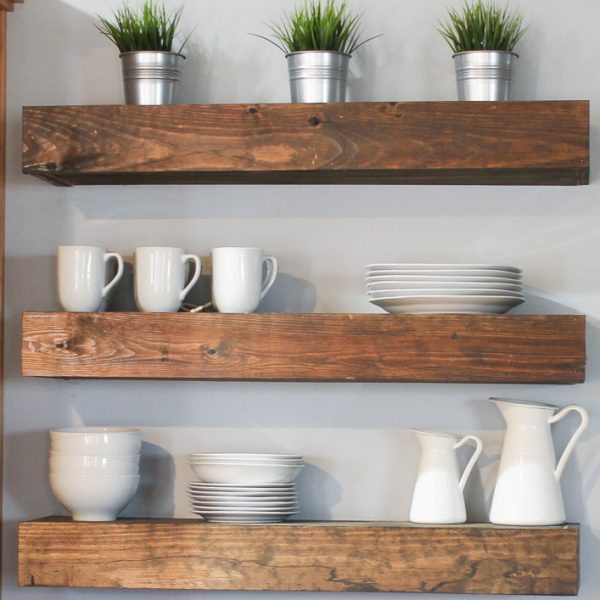 DIY Floating Shelves {Free Plans}