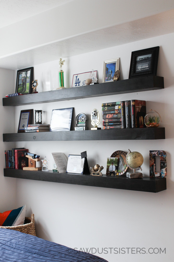 DIY Floating Shelves Free Plans Sawdust Sisters Magnificent How To Build Free Floating Shelves