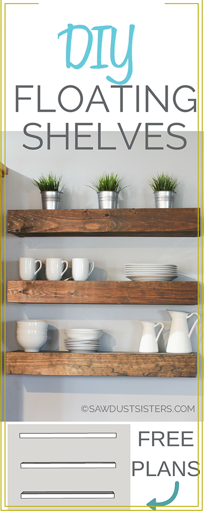 Learn how to build floating shelves. These DIY floating shelves would look perfect in any room. Download the FREE PLANS!