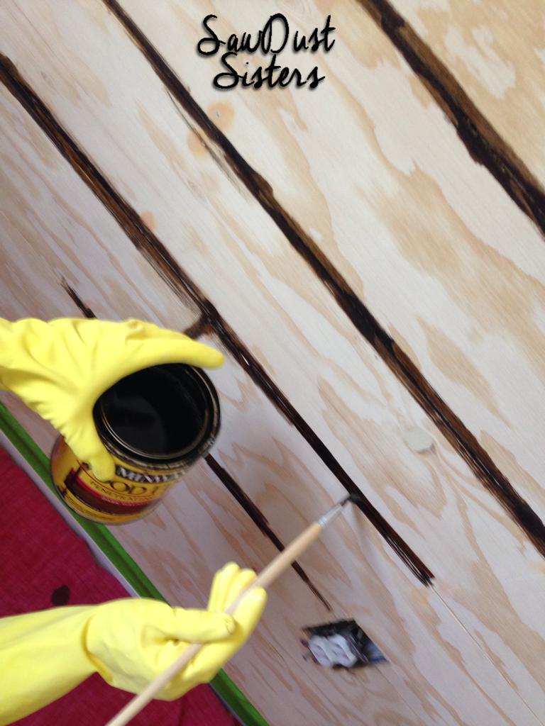 DIY Entry way Plank Wall. Tutorial at Sawdustsisters.com