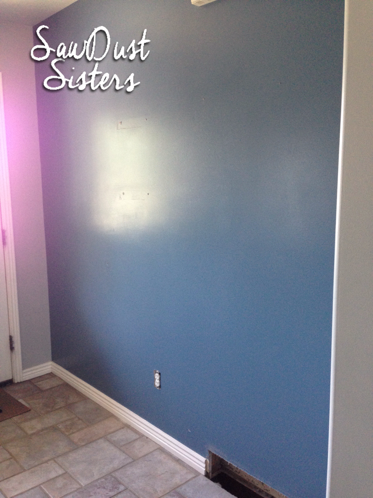 DIY Entry way Plank Wall. Tutorial at Sawdustsisters.com