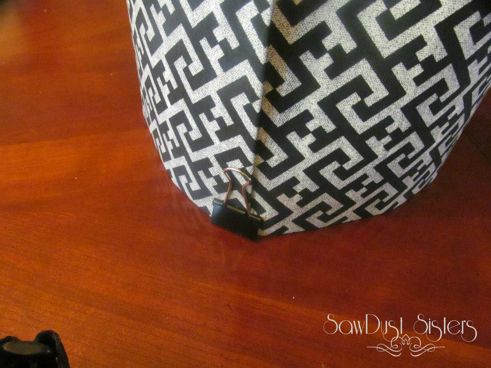 DIY Lamp shade at Sawdustsisters.com