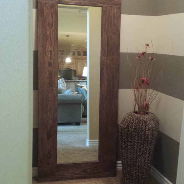 DIY Floor Length Mirror Frame Tutorial