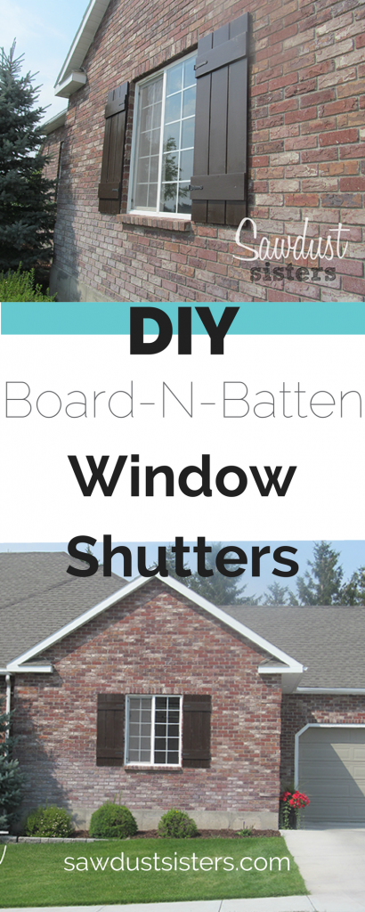 DIY Board and Batten Window Shutters