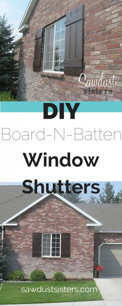 How To Build Wooden Board N Batten Shutters Sawdust Sisters