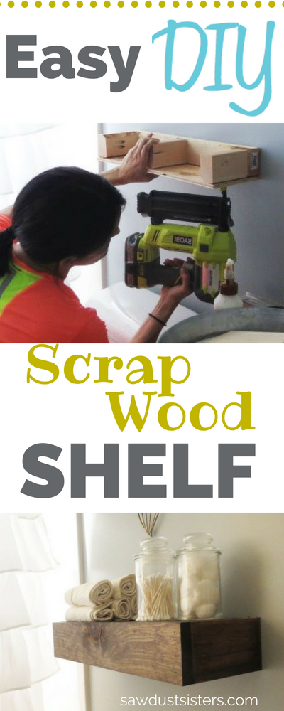 Super Easy DIY Scrap Wood Shelf!