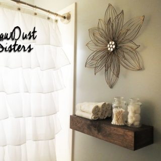 Easy DIY bathroom shelf
