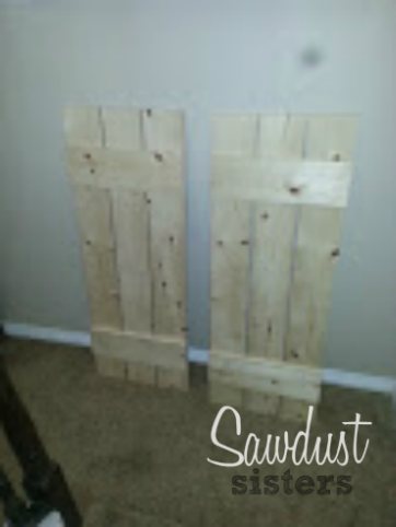 How to build Board and Batten Shutters. Tutorial at Sawdustsisters.com