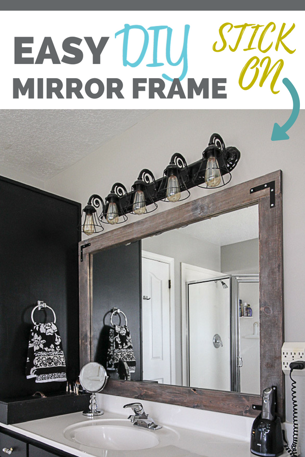 Diy Stick On Mirror Frame Sawdust Sisters