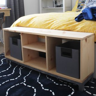 DIY Bench with Storage Compartments- IKEA Nornas look alike