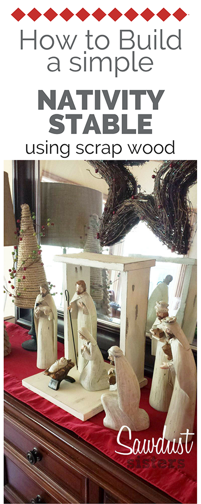 DIY Nativity Stable. Super easy! Make it with scrap wood!