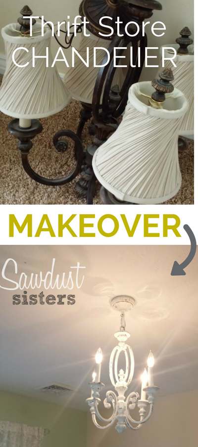 Thrift Store Chandelier Makeover. Don't pass up any of those old chandeliers at the thrift store!