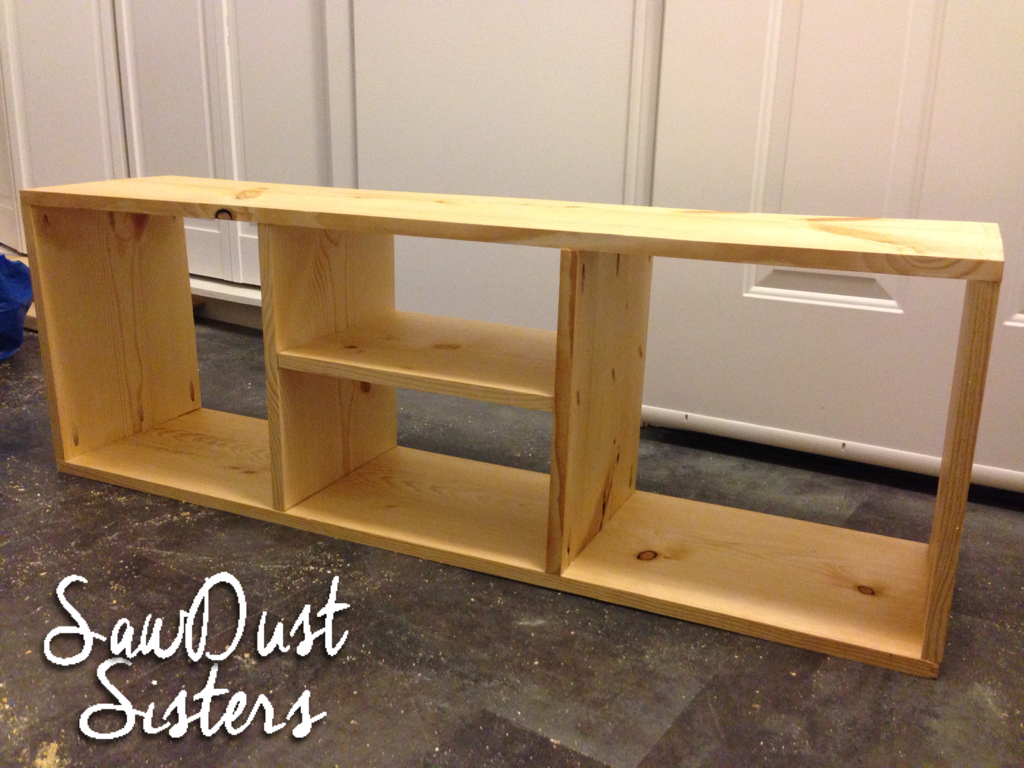 IKEA NORNAS Storage Bench with Storage Compartments. Build it for cheap!! Sawdustsisters.com