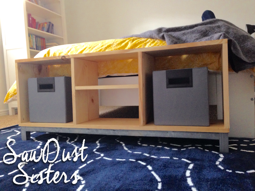DIY IKEA bench.IKEA NORNAS Storage Bench with Storage Compartments. Build it for cheap!! Sawdustsisters.com
