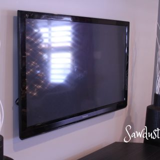 How to mount a flat screen TV and hide cords inside the wall