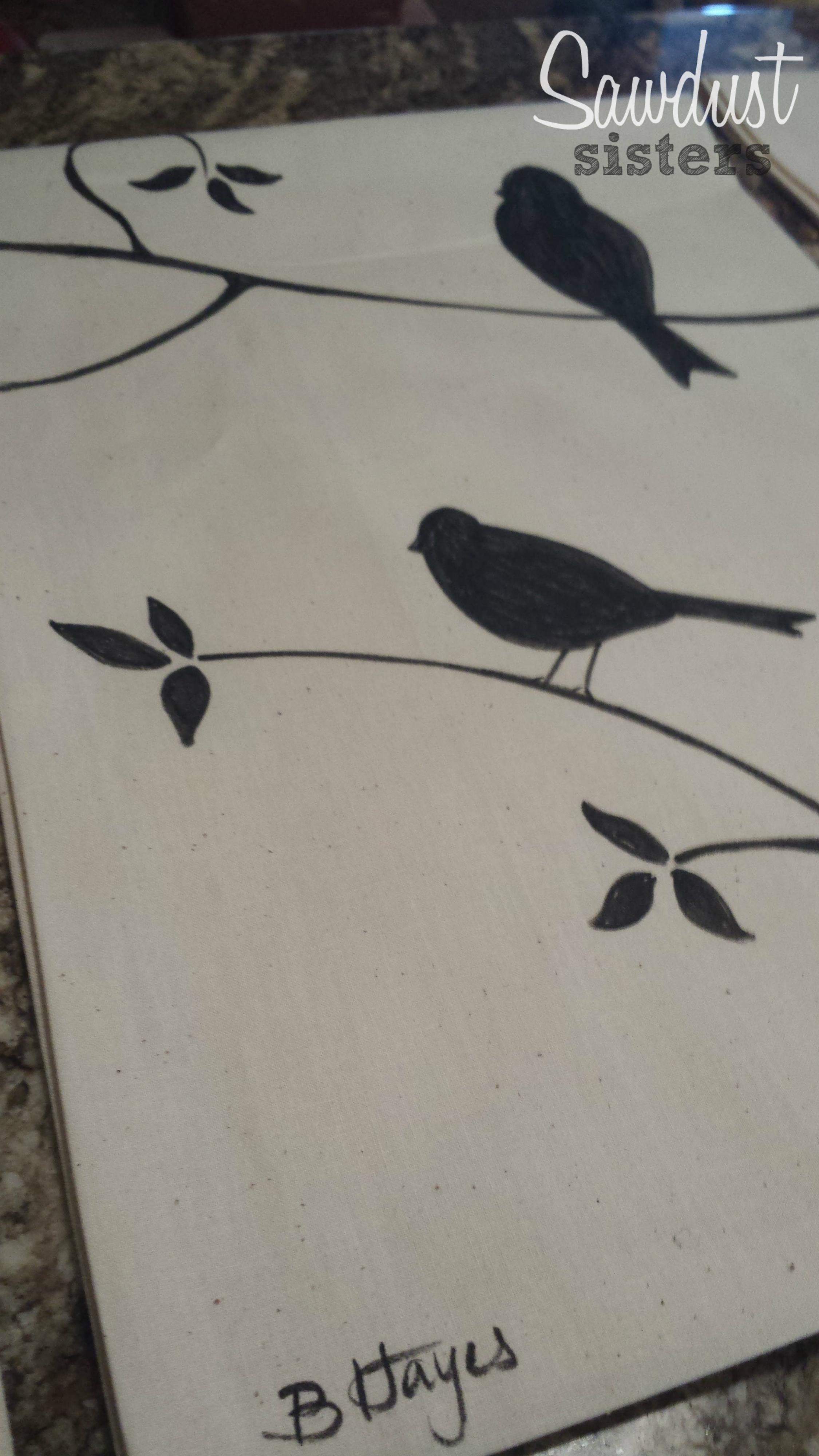 DIY Tea Towels/Kitchen Towels Sawdustsisters.com