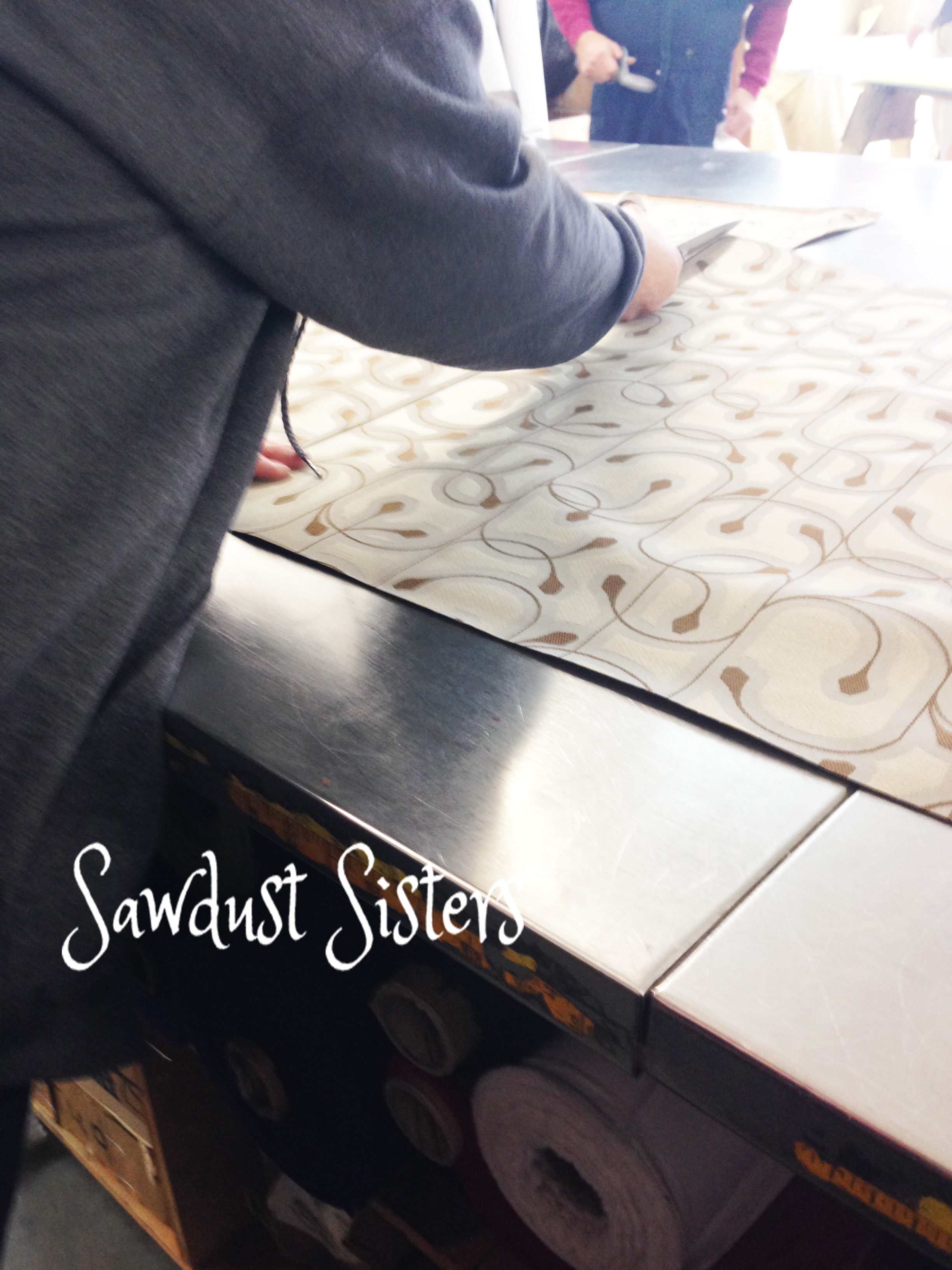 How to reupholster dining chairs and attach piping. Full tutorial at sawdustsisters.com