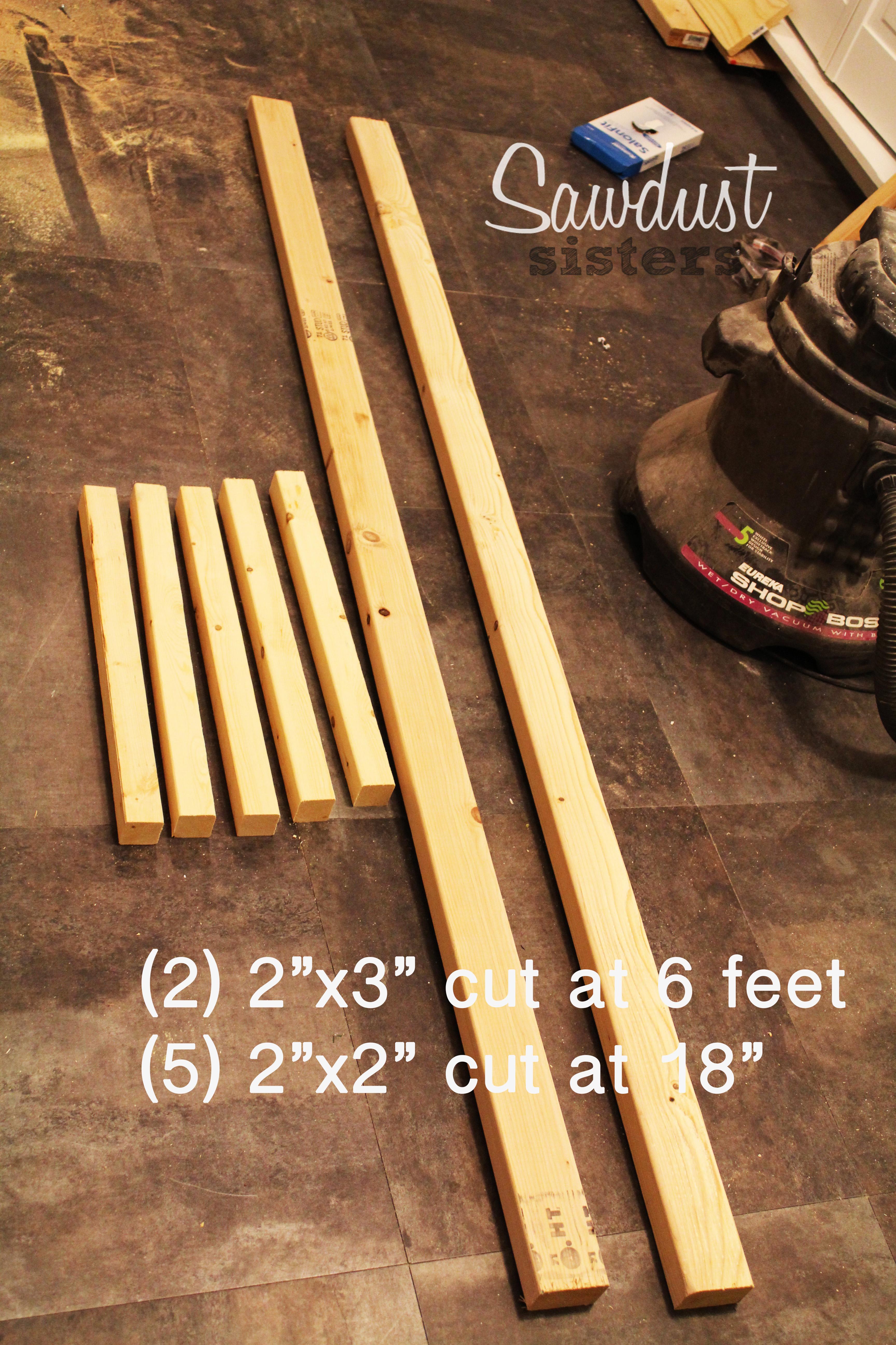 DIY Blanket Ladder. Build it for $6! Sawdustsisters.com