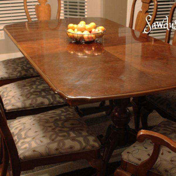 How to Reupholster Dining Chairs with Piping!