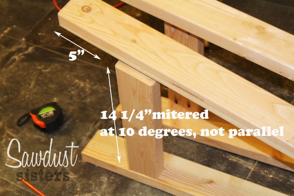 Build a barstool using only 2x4s! See the full tutorial at sawdustsisters.com