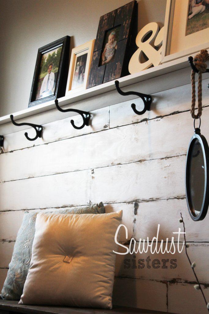 DIY Entry Way Plank Wall
