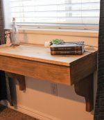 DIY Floating Desk with storage