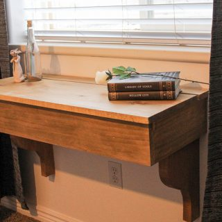 DIY Floating Desk/Vanity with Storage
