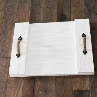 Easy DIY Wood Serving Tray- Farmhouse Style