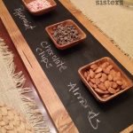 Easy Chalkboard Serving Tray