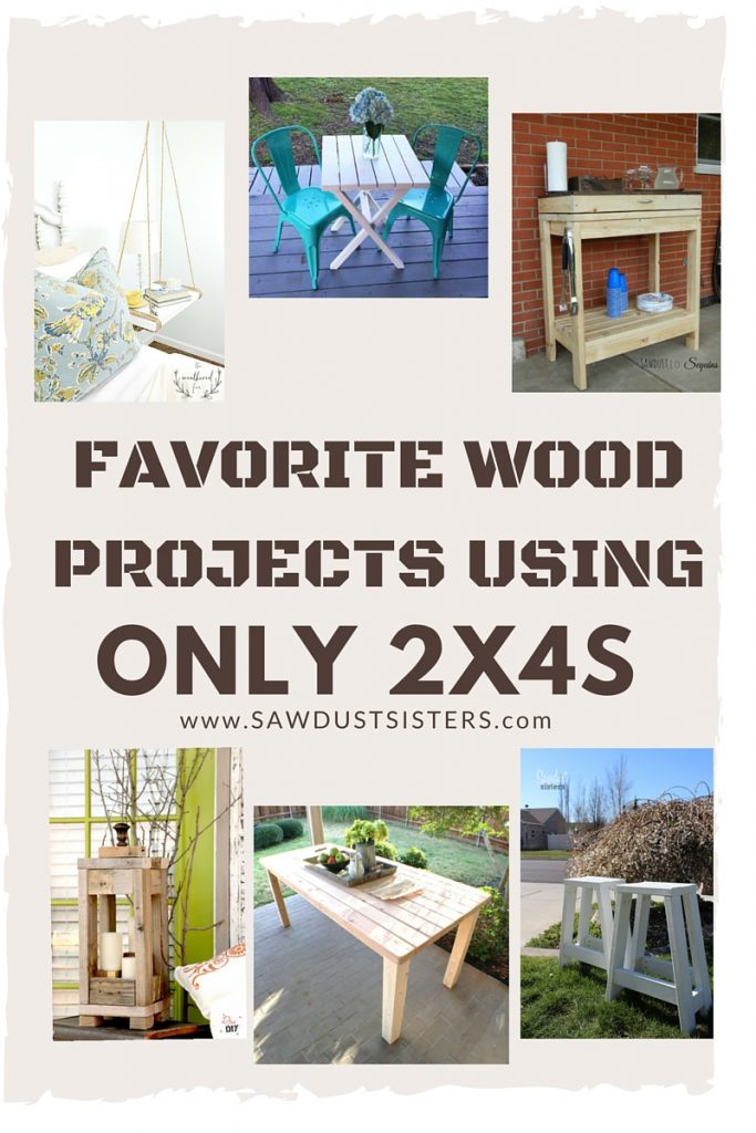 EASY Projects to build using 2x4s. Easy 2x4 projects.