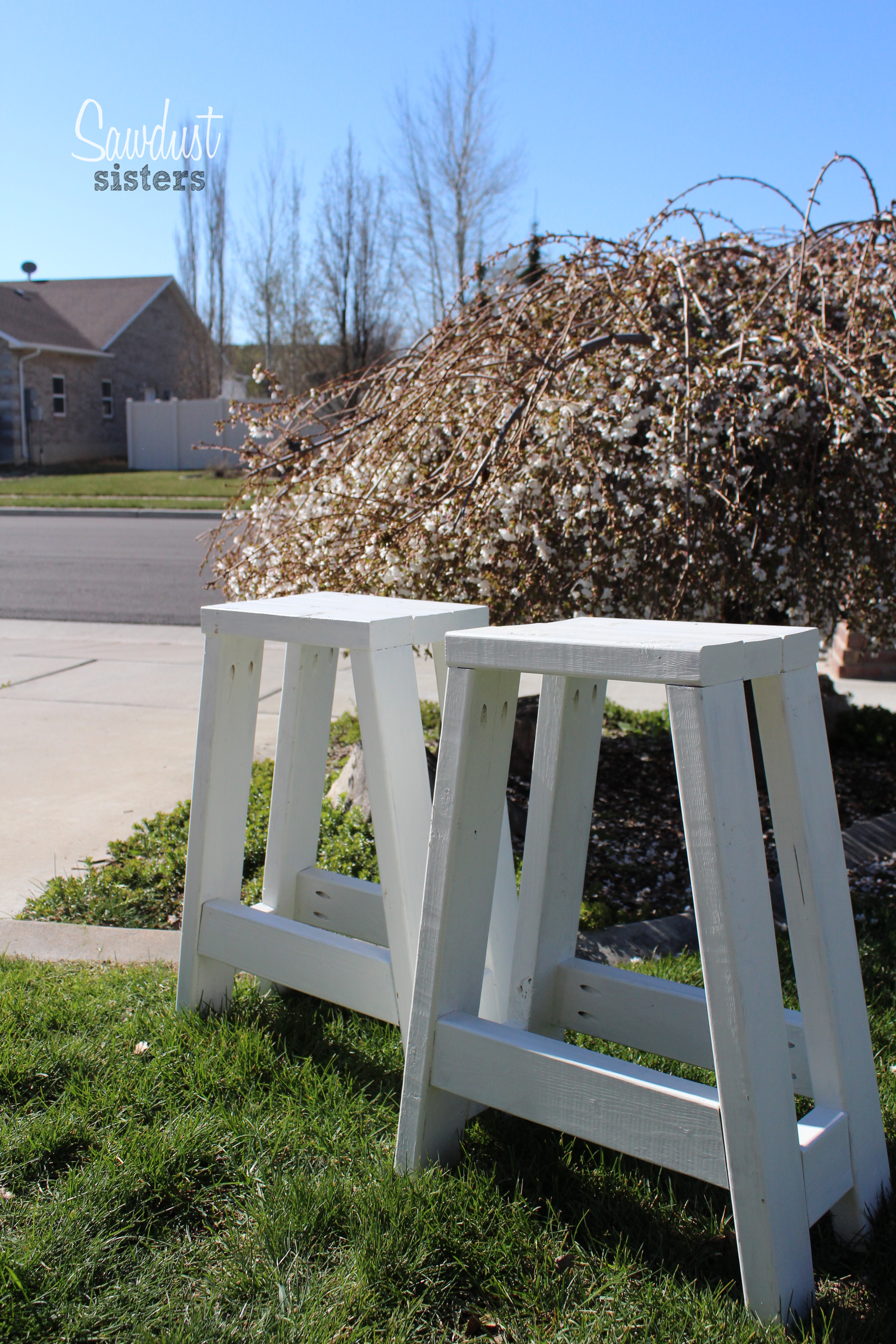 Build A Barstool Using Only 2x4s Sawdust Sisters