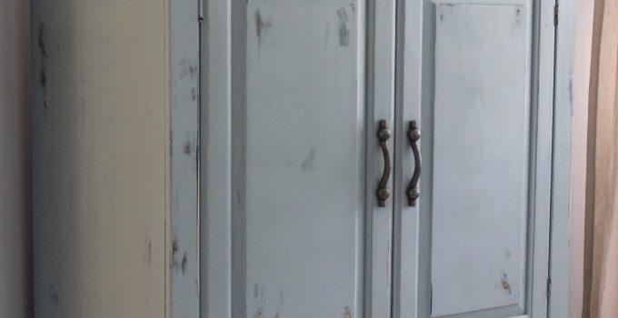 Milk Paint Armoire Renovation