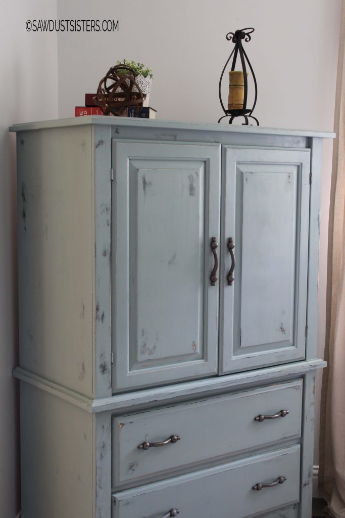 Renovate an old armoire using milk paint
