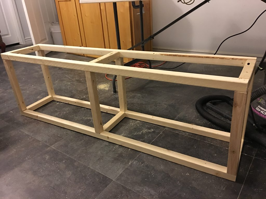 DIY Upholstered Bench with Faux Metal Frame