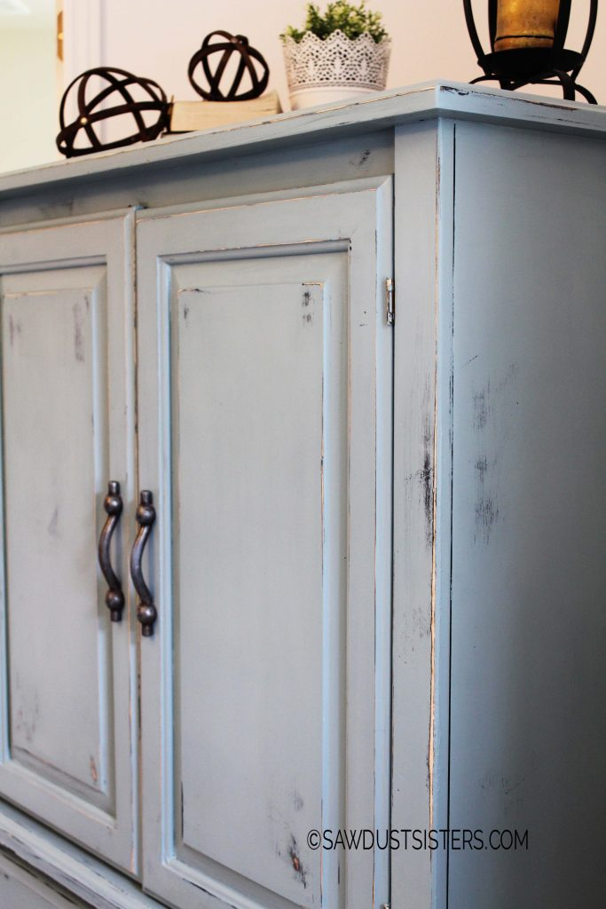 Renovate an old armoire using milk paint and hemp oil