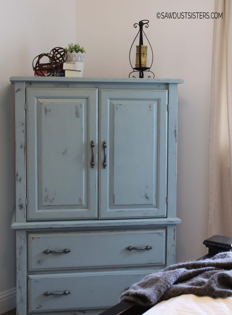 Renovating an old armoire with milk paint and hemp oil