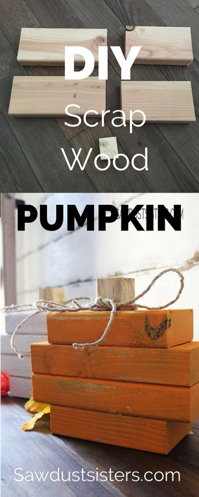 Easy Diy Pumpkin Made With Scrap Wood And Chalk Style Paint