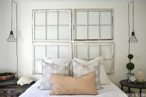 Rustic Window Frames Above Bed Liz Blog