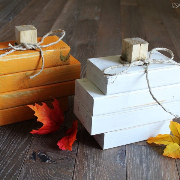 Easy DIY Scrap Wood Pumpkin