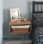 DIY Floating Side Table with Storage