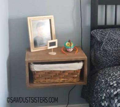 Easy DIY Floating Side Table with Storage