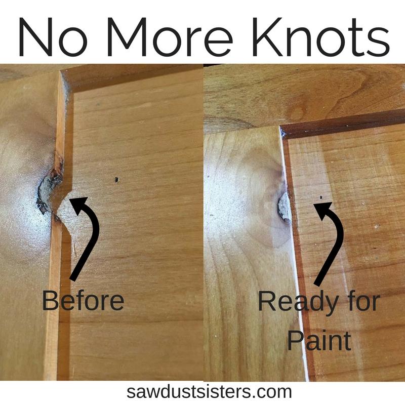 Filling Knotty alder holes