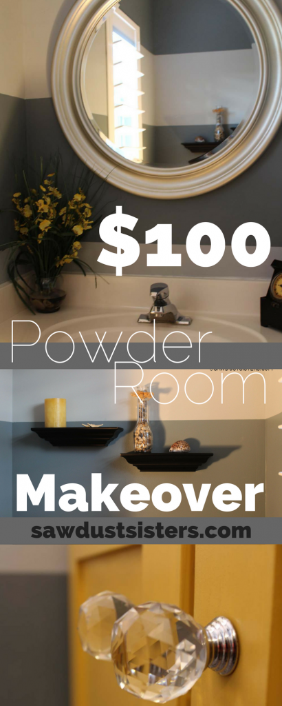 $100 Powder Room Makeover!!!