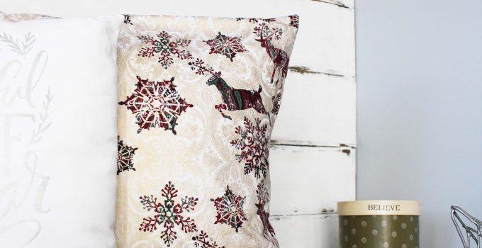 Easy -No Zipper- DIY Pillow Cover