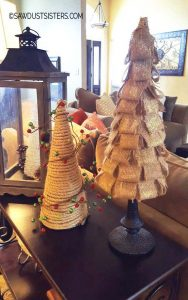 DIY Christmas Tabletop Trees