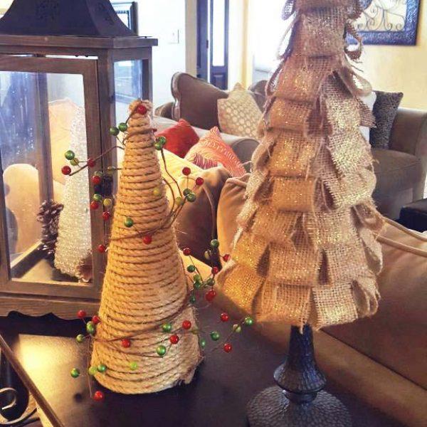 Sparkly DIY Tabletop Christmas Tree