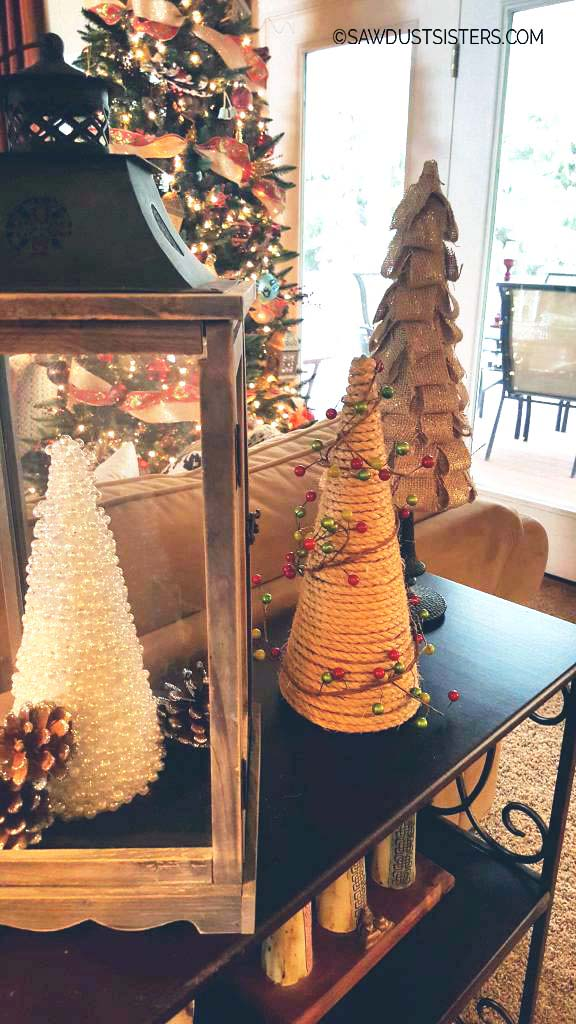 DIY Christmas Tabletop tree. Tutorial for all 3!