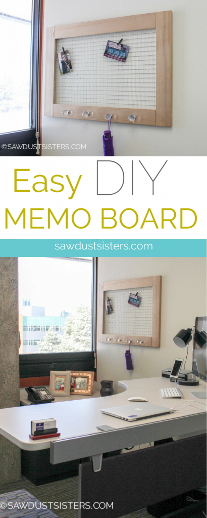 Easy DIY Memo Board. So cute!