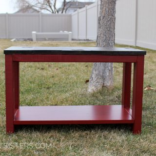 DIY Mudroom Bench from Scrap Wood