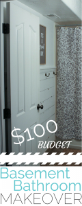 $100 BASEMENT BATHROOM MAKOVER! WOW!
